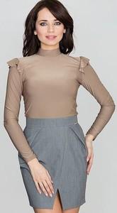 Brązowa spódnica LENITIF midi