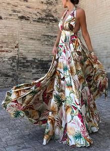 Sukienka Sandbella maxi z dekoltem na plecach