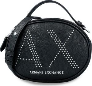 Torebka Armani Exchange na ramię zdobiona