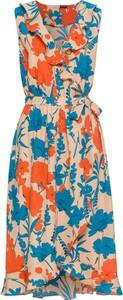 Bonprix bodyflirt sukienka kopertowa z falbanami