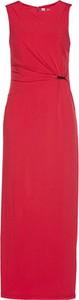 Sukienka bonprix bpc selection premium dopasowana bez rękawów z dekoltem w łódkę