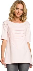 Różowa bluzka MOE z krótkim rękawem