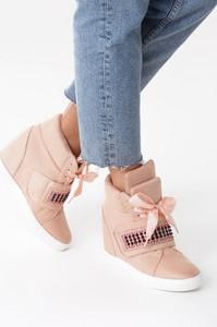 Born2be różowe sneakersy stop me now