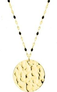 Manoki WA469G złoty medalion naszyjnik młotkowany