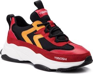 Buty sportowe Togoshi ze skóry sznurowane