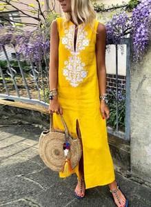 Żółta sukienka Sandbella maxi
