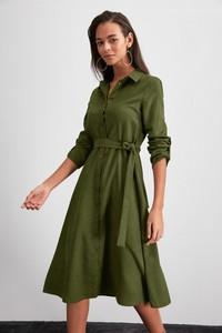 Sukienka Trendyol w stylu casual midi z długim rękawem
