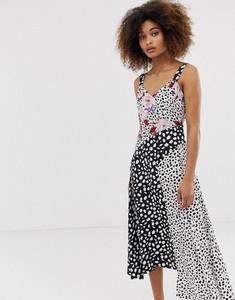 Sukienka Neon Rose asymetryczna na ramiączkach