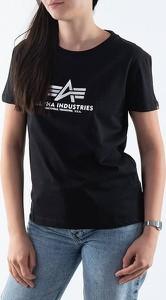 T-shirt Alpha Industries z okrągłym dekoltem z bawełny
