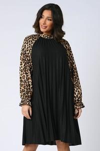Sukienka Plus Size Company z okrągłym dekoltem