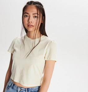 T-shirt Cropp z okrągłym dekoltem w stylu casual