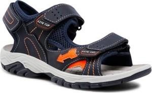 Granatowe buty dziecięce letnie Twisty ze skóry