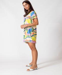 Sukienka Skfk z krótkim rękawem w stylu casual
