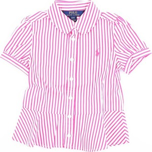 Różowa koszula dziecięca POLO RALPH LAUREN z bawełny