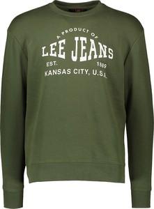 Zielona bluza Lee Jeans w młodzieżowym stylu z bawełny