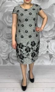 Sukienka Dorota midi z żakardu