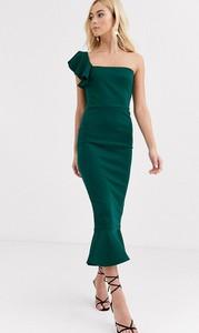 Zielona sukienka True Violet asymetryczna