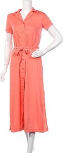 Różowa sukienka MICHALSKY FOR ABOUT YOU z dekoltem w kształcie litery v maxi