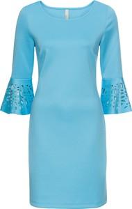 Sukienka bonprix bodyflirt boutique ołówkowa z długim rękawem midi