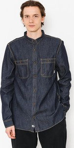Niebieska koszula Element w stylu casual z bawełny z długim rękawem