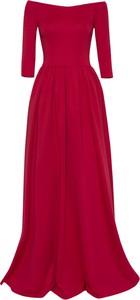 Sukienka Kasia Miciak design z długim rękawem z dzianiny maxi
