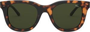 Brązowe okulary damskie POLO RALPH LAUREN