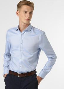 Niebieska koszula Finshley & Harding z długim rękawem z bawełny