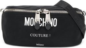 Czarna torba Moschino ze skóry