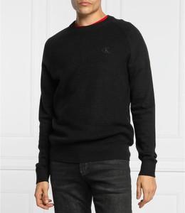 Czarny sweter Calvin Klein z okrągłym dekoltem z kaszmiru