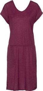Sukienka Jack Wolfskin z dekoltem w kształcie litery v midi prosta