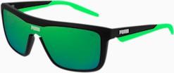 PUMA Made To Move Sunglasses Czarny / Zielony