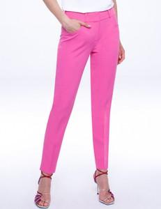 Różowe spodnie L'AF z tkaniny w stylu klasycznym