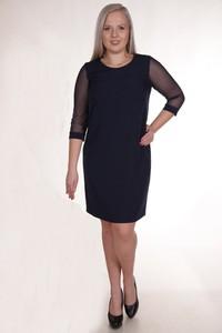 Sukienka Fokus z długim rękawem dopasowana