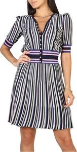 Sukienka Emporio Armani z bawełny z krótkim rękawem mini