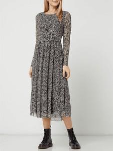Sukienka Tom Tailor z długim rękawem midi z okrągłym dekoltem