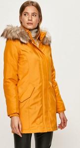 Żółta kurtka Only długa w stylu casual