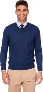 Niebieski sweter Lanieri Fashion z wełny