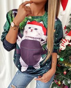 Bluza Kendallme w bożonarodzeniowy wzór