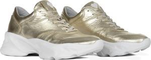 Złote buty sportowe Swiat Obuwia ze skóry