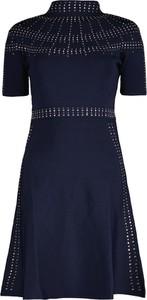 Granatowa sukienka Lavard z tkaniny
