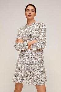 Sukienka Mango mini z długim rękawem z tkaniny