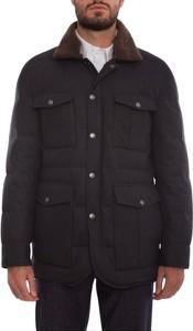 Czarna kurtka Brunello Cucinelli z wełny