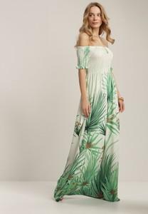 Zielona sukienka Renee z krótkim rękawem