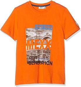 Pomarańczowa koszulka dziecięca amazon.de z krótkim rękawem