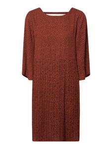 Pomarańczowa sukienka Selected Femme z okrągłym dekoltem mini