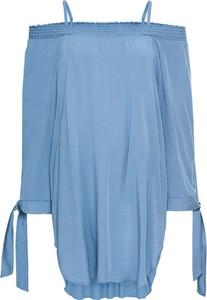 Błękitna tunika bonprix bodyflirt w stylu casual