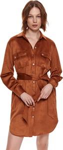 Sukienka Top Secret z kołnierzykiem koszulowa w stylu casual