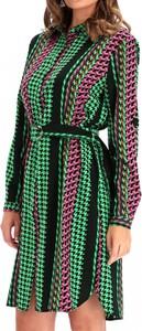 Zielona sukienka Smashed Lemon z długim rękawem mini