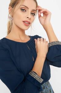 Niebieska bluzka ORSAY z okrągłym dekoltem z długim rękawem
