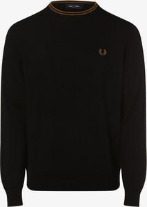 Czarny sweter Fred Perry z okrągłym dekoltem w stylu casual